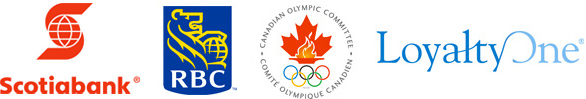 Scotiabank, RBC Royal Bank of Canada, Canadian Olympic Committee and LoyaltyOne.